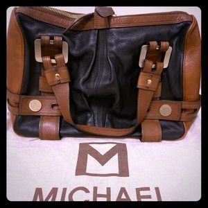 Michael Kors Brown Black and Brown Leather